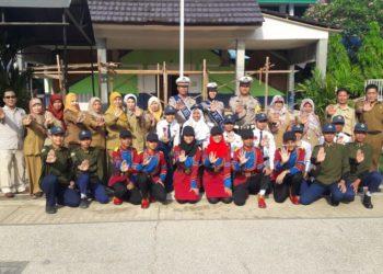 Program Police Go To School Polres Banjarbaru bergulir di SMPN 1 Banjarbaru. Foto - Ist