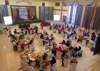 Ratusan Guru IPS ikuti seminar nasional di aula Gedung Bina Satria Banjarbaru Rabu pagi. Foto - Ist