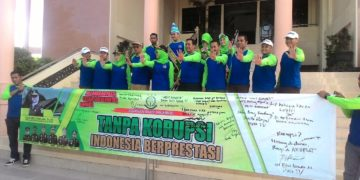 Kejaksaan Negeri Banjarbaru mengajak semua pihak untuk bersama-sama memerangi tindak pidana korupsi. Foto - Dema