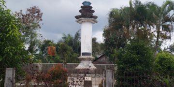 Tugu Intan Trisakti yang berada di Kelurahan Sungai Tiung Kecamatan Cempaka, ketika dilihat dari kejauhan. Foto - Dema