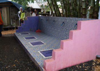 Septic tank komunal yang dibangun dekat rimbunan pohon bambu. Foto - Dema
