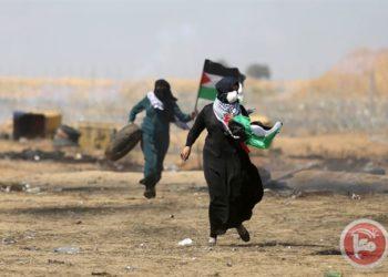 Wanita-wanita Palestina yang ikut ambil bagian dalam aksi damai Great Return March. (Sumber. Maan News)