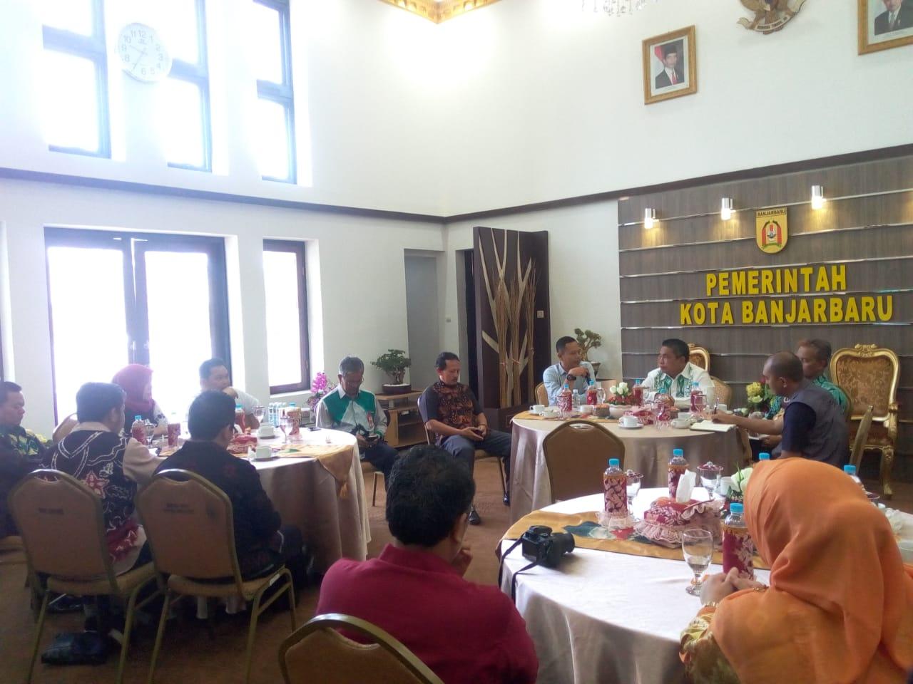 Jelang Pemilu Pemko Dan Kpu Banjarbaru Adakan Coffee Morning