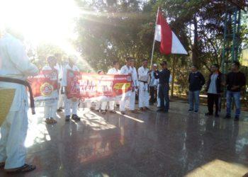 Camat Martapura dan Kepala Dinas Kesehatan Kabupaten Banjar Lepas Long March Limkari Kabupaten Banjar