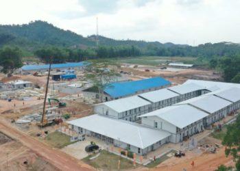 Rumah Sakit Darurat Penanganan Covid-19 dibangun di Pulau Galang Batam